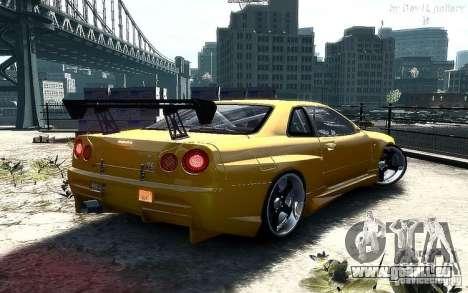 Nissan SkyLine BNR34 pour GTA 4 est une gauche
