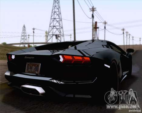 Lamborghini Aventador LP700-4 2011 für GTA San Andreas Innenansicht