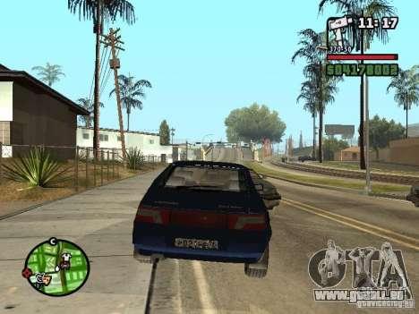 VAZ 21124 coupé pour GTA San Andreas laissé vue