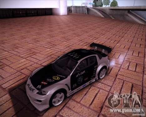 Mazda RX-8 für GTA San Andreas Innenansicht
