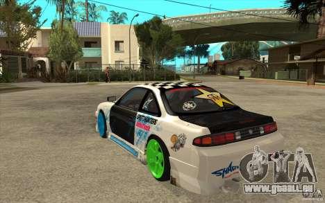 Nissan Silvia S14 Drift Bomb pour GTA San Andreas sur la vue arrière gauche