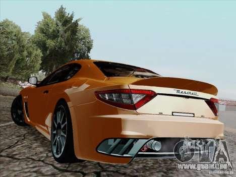 Maserati GranTurismo MC 2009 pour GTA San Andreas laissé vue
