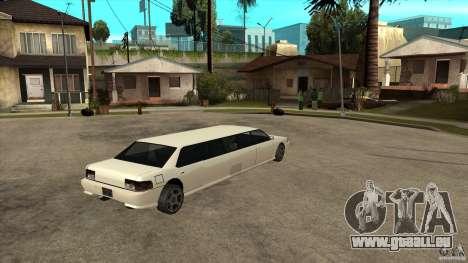 Limousine de Sultan pour GTA San Andreas vue de droite