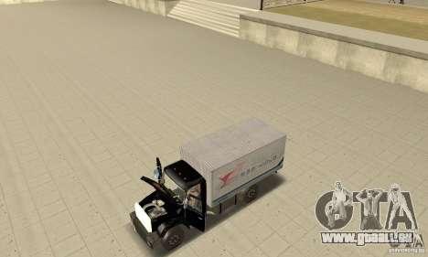 ZIL 433112 mit tuning für GTA San Andreas Rückansicht