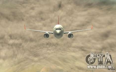 Boeing 737-800 THY pour GTA San Andreas vue intérieure
