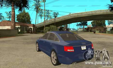 Audi S6 Limousine V1.1 pour GTA San Andreas sur la vue arrière gauche