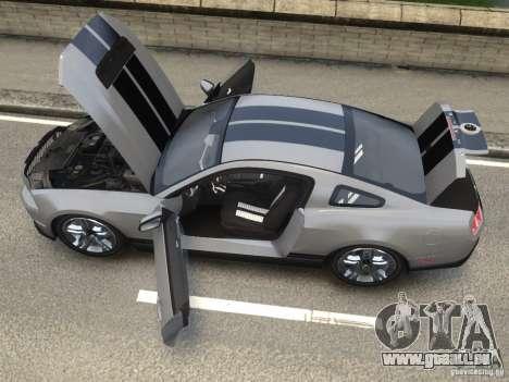 Shelby GT500 2010 pour GTA 4 Vue arrière de la gauche