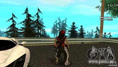 Chicano Chick Skin pour GTA San Andreas troisième écran