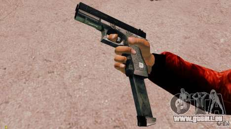 Glock 18 Akimbo (schwarz/grau) für GTA 4