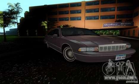 Chevrolet Caprice 1991 pour GTA San Andreas vue de droite