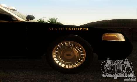 Ford Crown Victoria Wyoming Police pour GTA San Andreas vue de droite