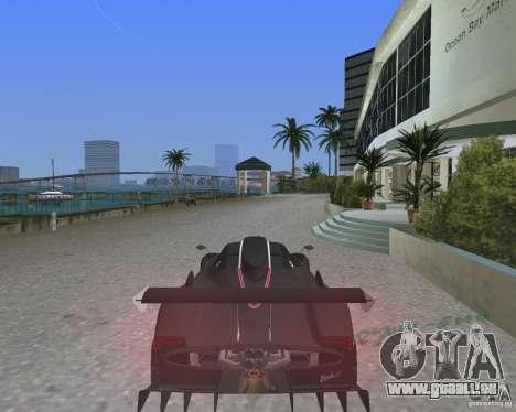 Pagani Zonda R pour une vue GTA Vice City de la gauche