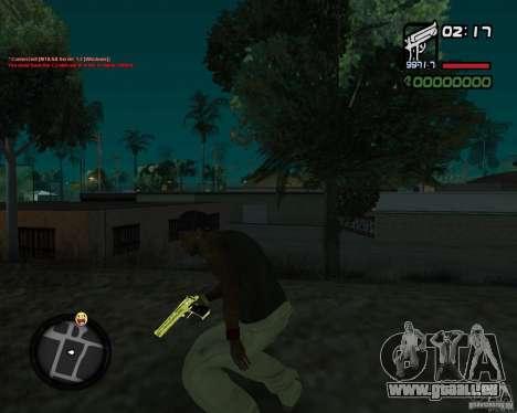 Desert Eagle GOLD pour GTA San Andreas deuxième écran