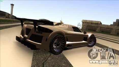 Gumpert Apollo für GTA San Andreas Innenansicht