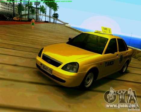 2170 LADA Priora Baki taksi pour GTA San Andreas laissé vue