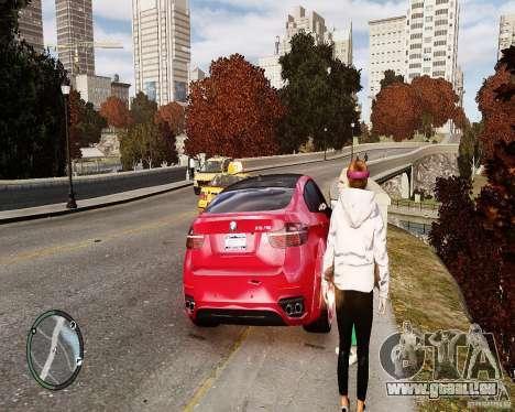 BMW X6M Lumma pour GTA 4 est une vue de l'intérieur