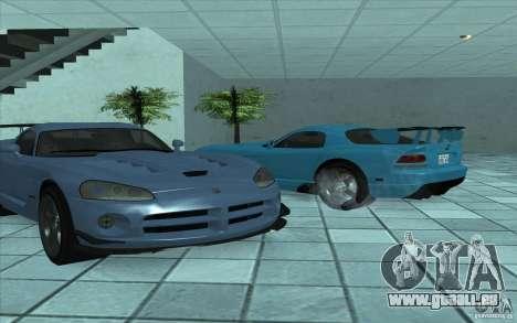 Dodge Viper SRT10 ACR pour GTA San Andreas sur la vue arrière gauche