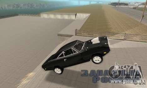 Dodge Charger RT 1970 The Fast & The Furious pour GTA San Andreas vue de dessus
