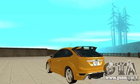 Ford Focus RS pour GTA San Andreas sur la vue arrière gauche