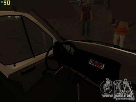 Gazelle 32214 Ambulance pour GTA San Andreas vue de dessus