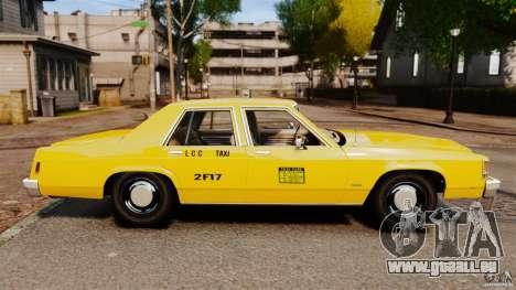 Ford LTD Crown Victoria 1987 L.C.C. Taxi pour GTA 4 est une gauche