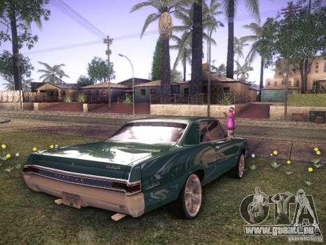 Pontiac GTO 65 für GTA San Andreas zurück linke Ansicht