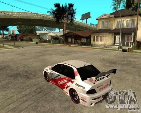 Lancer Evolution VIII, les Américains sont inter pour GTA San Andreas laissé vue