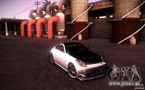 Nissan 350Z Fairlady pour GTA San Andreas sur la vue arrière gauche