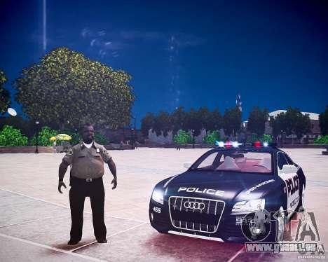 Audi S5 Police pour GTA 4 Vue arrière