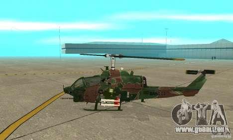 AH-1 super cobra pour GTA San Andreas sur la vue arrière gauche