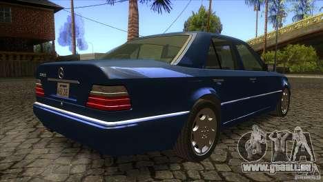 Mersedes-Benz E500 pour GTA San Andreas vue intérieure