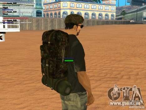 Military backpack pour GTA San Andreas quatrième écran