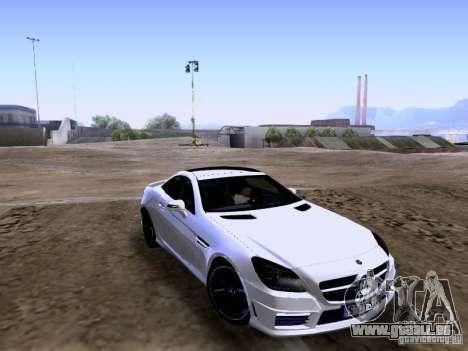 Mercedes-Benz SLK55 AMG 2012 für GTA San Andreas linke Ansicht