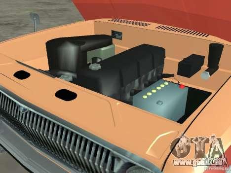 Volga GAZ-24 AEROFLOT 02 pour GTA San Andreas vue intérieure
