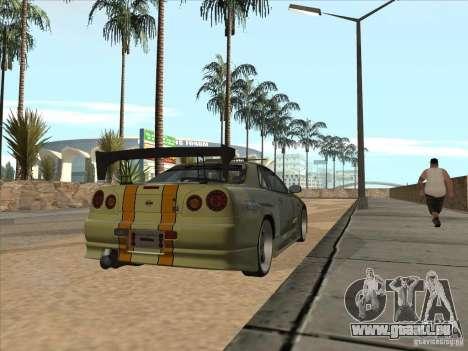Nissan Skyline R34 VeilSide pour GTA San Andreas salon