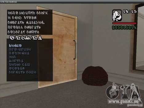 Die Schriftart der NFS-MW-v2 für GTA San Andreas her Screenshot