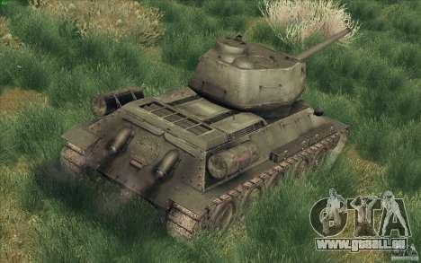 T-34-85 depuis le jeu COD World at War pour GTA San Andreas sur la vue arrière gauche