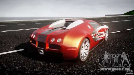 Bugatti Veyron 16.4 v1 pour GTA 4 Vue arrière de la gauche