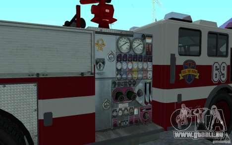 FIRETRUCK pour GTA San Andreas sur la vue arrière gauche