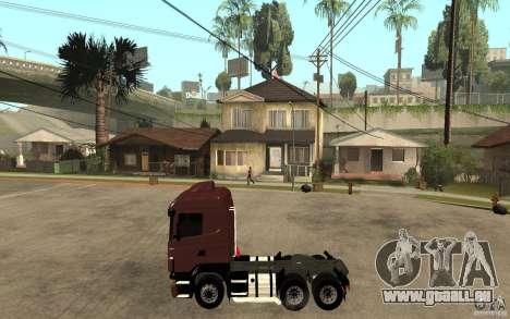 Scania 124 R480 6x4 Truck 1 für GTA San Andreas linke Ansicht