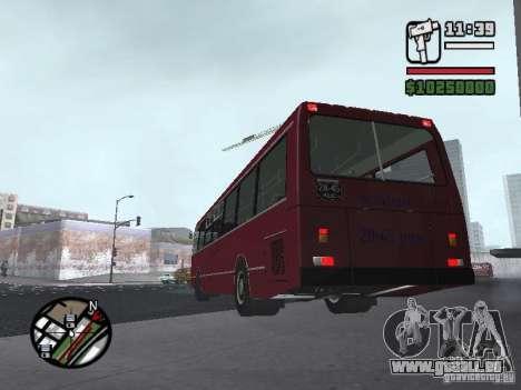 LAZ 5252 pour GTA San Andreas sur la vue arrière gauche