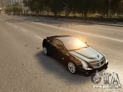 Cadillac CTS-V Coupe 2011 für GTA 4 obere Ansicht