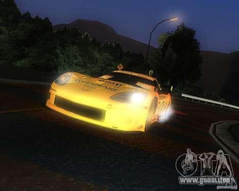 Chevrolet Corvette Drift pour GTA San Andreas sur la vue arrière gauche