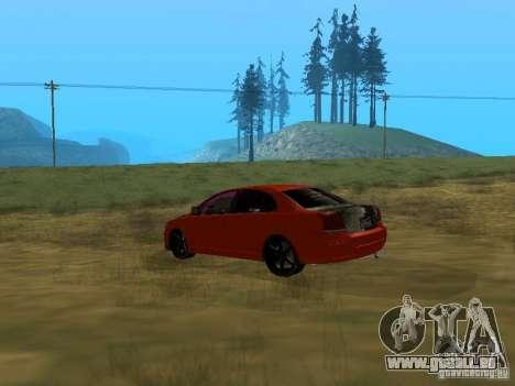 Toyota Avensis TRD Tuning pour GTA San Andreas laissé vue