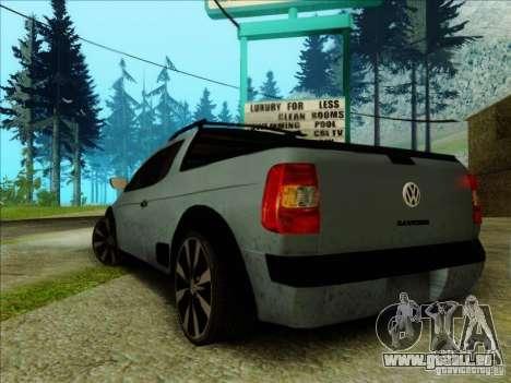 Volkswagen Saveiro 2014 pour GTA San Andreas laissé vue