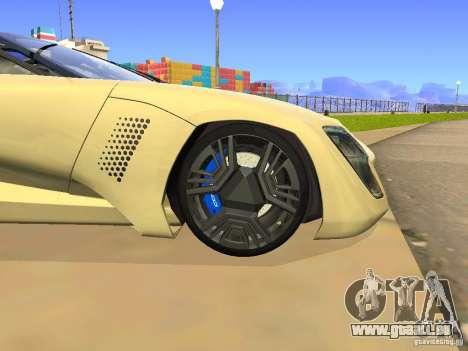 Bertone Mantide für GTA San Andreas Innenansicht
