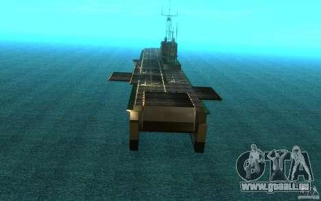 New Aircraft carrier für GTA San Andreas rechten Ansicht