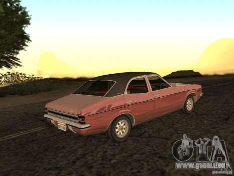 Ford Cortina MK 3 2000E pour GTA San Andreas laissé vue