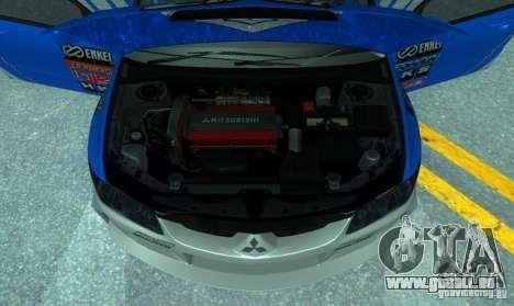 Mitsubishi Lancer Evo 8 Tunable pour GTA San Andreas vue de côté