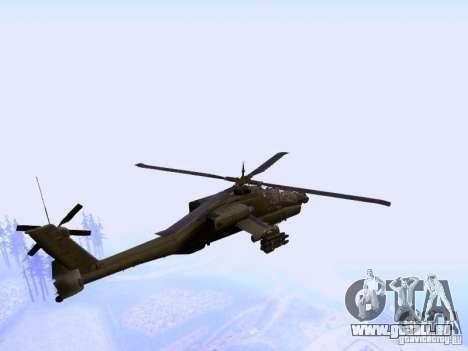 HD Hunter pour GTA San Andreas sur la vue arrière gauche
